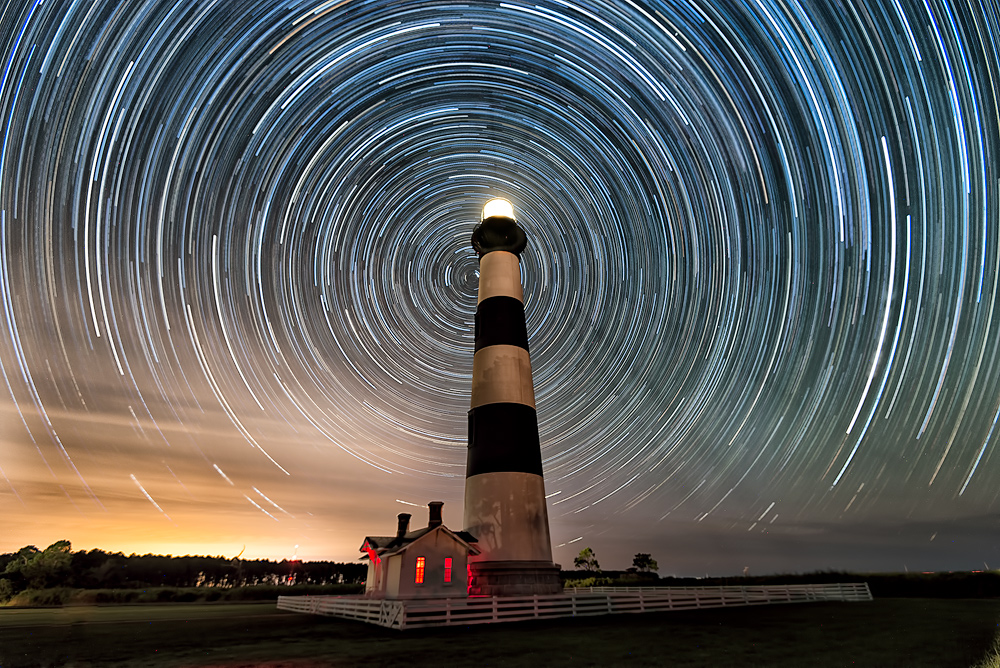 Bodie Island Lighthouse and Star Trails